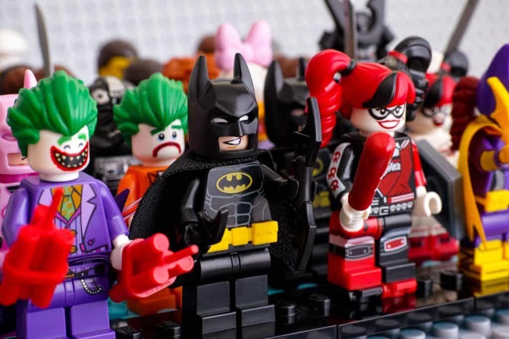 Mini figuras lego Batman.