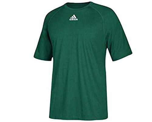 adidas Men's Climalite Short Sleeve Shirt Dark Green Small??Ships Directly from